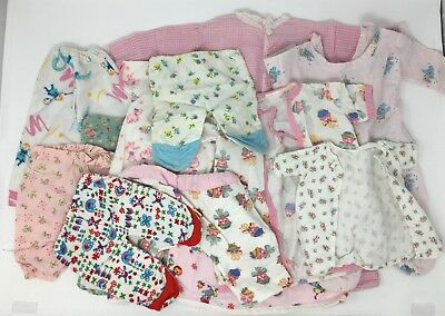 Vintage Large Lot of Assorted Baby Doll Clothing Pajamas Gowns Robes One Piece
