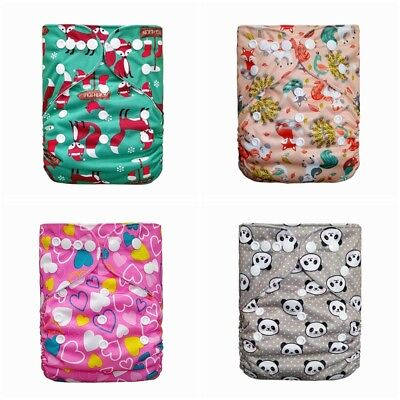 Reusable Diaper Cover Wrap Washable Baby Pocket Nappy Cloth BAMBOO CHARCOAL LV