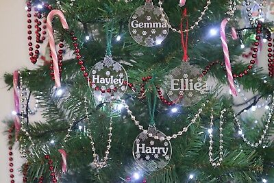 Christmas Tree Bauble Personalised kids acrylic Xmas Tree Decoration Ornament