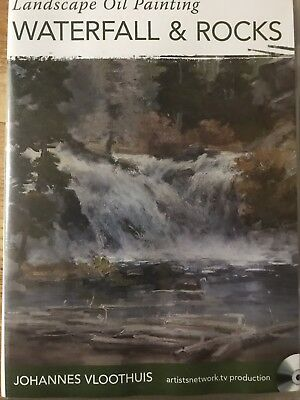 Landscape Oil Painting Waterfall And Rocks By Johannes Vloothuis Art Instruction
