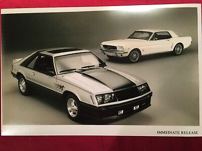1979 Ford Mustang Indy 500 Pace Car And 1964 Mustang 12X18 In Photo Poster
