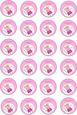 Peppa Pig Edible Image party CupCake Toppers