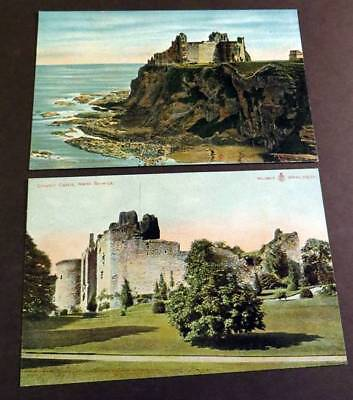 NORTH BERWICK c1905 Lot of 2 Postcards Tantallon & Dirleton Castles
