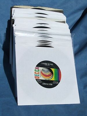 Lot of 50 Country 45 RPM Records (Jukebox Ready)