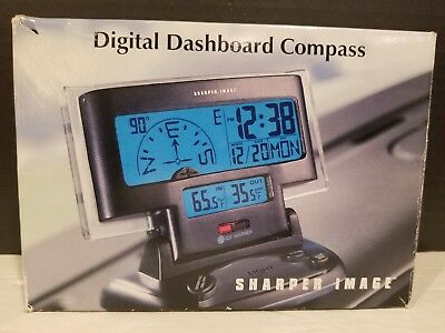 Sharper Image Digital Dashboard Compass w/ In/outside Temperature & Ice Warning