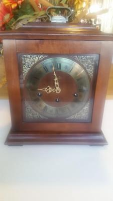 Vintage Franz Hermle Chime & 2 Jewel Mantel Clock West Germany