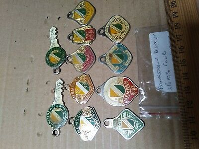 11 Bankstown District Sports Club Members Metal Badges Lot Bulk