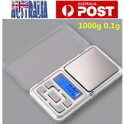 1000g Pocket Digital Scale 0.1g Precision Jewellery Balance gram Scales Weight