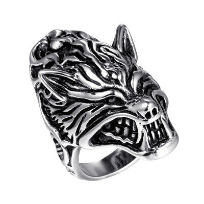 Stainless Fashion Mens Silver Punk Skull Cross Knights Templars Jewelry Rings