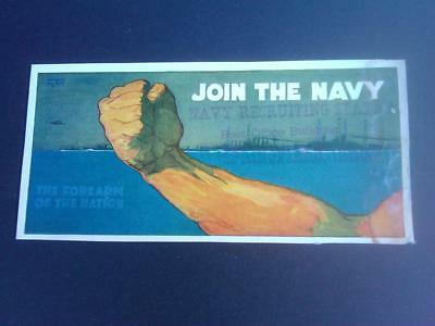 JOIN THE NAVY The Forearm of the Nation 1917