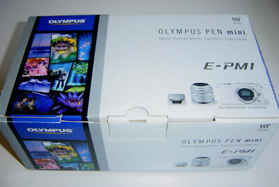 OLYMPUS E-PM1 PEN MINI DIGITAL CAMERA M.ZUIKO 14-42mm f3.5-5.6 II R SILVER BNIB