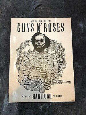 Guns N Roses Lithograph Not In This Lifetime Hartford, CT #56/300 10/25/17