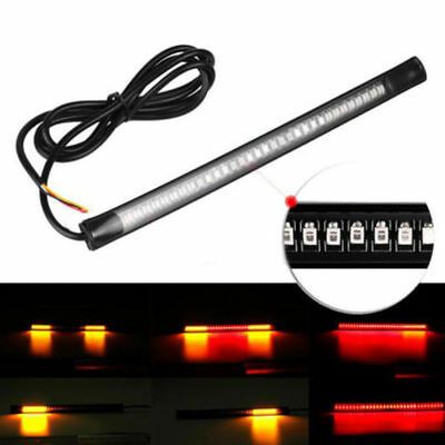 1x Motorcycle 48 LED Flexible Strip Light Integrated Tail Brake Stop Turn Signal