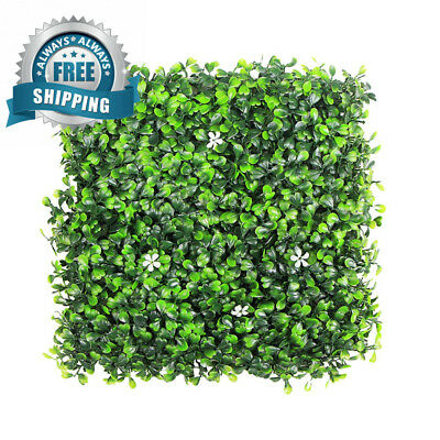 ULAND Artificial Boxwood Hedges Panels, Greenery Ivy Privacy Fence...