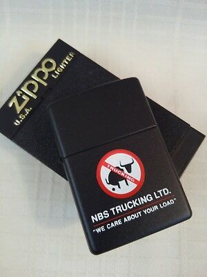 Vintage Zippo Lighter Unused NBS Trucking Ltd No Bull S*** Special Edition