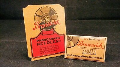 100 Loud Tone Brunswick Phonograph Needles - In Unopened Vintage Envelopes!