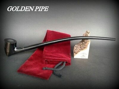 TOBACCO SMOKING PIPE Lotr Gandalf Hobbit no 83 Black CHURCHWARDEN LONG 14""