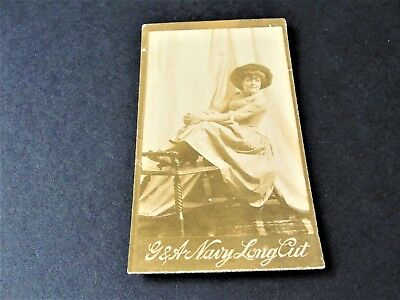 Antique G.W. Gail & Ax's Navy Tobacco Card with black & white image of lady.