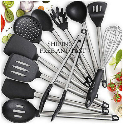 Premium Silicone Kitchen Utensils 8-Piece Non-Stick Cooking Utensils Set NEW!!!