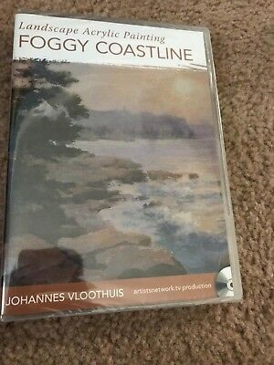 Landscape Acrylic Painting Foggy Coastline by Johannes Vloothuis Art Instruction