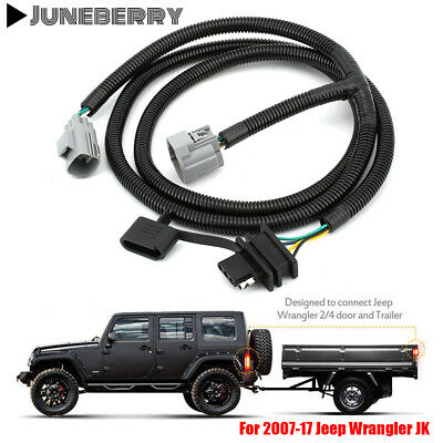14-17 JEEP CHEROKEE Trailer Tow Wiring Kit Harness 7&4 Way ... on