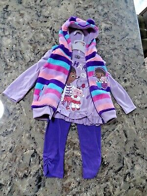Toddler Girl 2T 3 pc Outfit Set NWT Disney DOC Mc STUFFINS Retired Purples