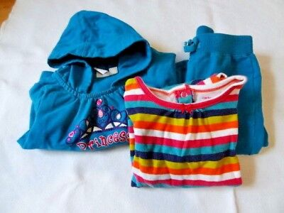 Baby Girl 12 - 18 mo 3 pc Outfit Carters & 1989 Place Teal & Stripes Barely Worn