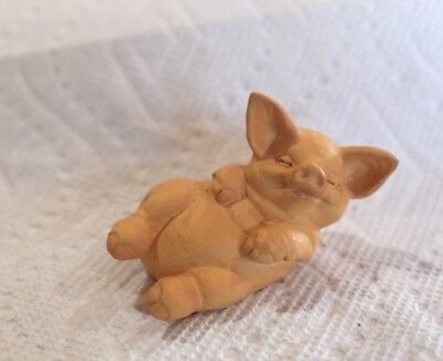 RUSS Smiling Pig lying down - NEW!  Vintage Collectible