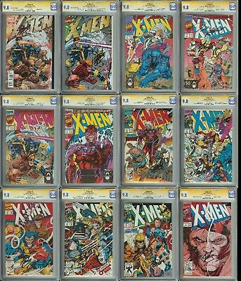 1991 X-Men Lot of 12 CGC 9.8 SS Stan Lee Signatures on all & Jim Lee on most