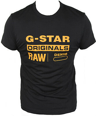 New G-Star Raw Mens T-Shirt Round Neck in Black Colour Size S