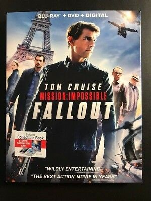Mission: Impossible Fallout- Collectible Book (Blu-Ray/DVD/Digital 3 disc 2018)
