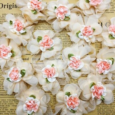 20cm Handicrafts Embroidered Lace Trim Ribbon Sewing Crafts Floral Applique 1yd