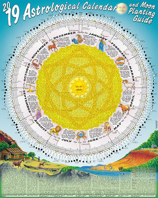 2019 Astrological Moon Calendar & Planting Guide: Rolled & Posted in a Tube