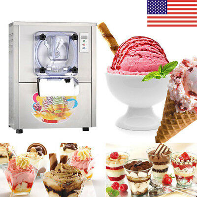 CE Commercial Hard Ice Cream Machine 20L/h Stainless Steel Ice Cream Maker US