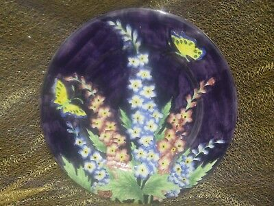 """Maling """"Delphinium"""" Charger Plate (c1932)"""