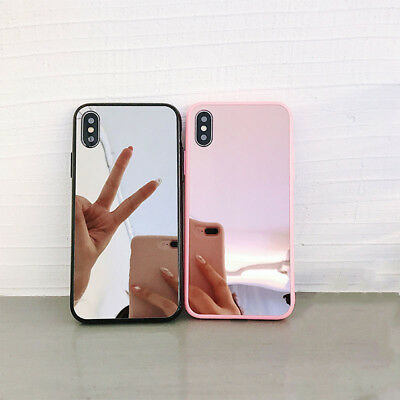 Bumper Case Mirror Back Protective Covers For iPhone Xs Max XR X 7 8 Plus