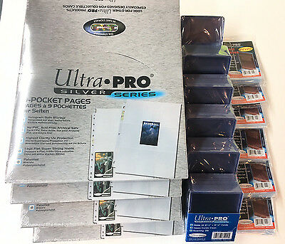 Ultra Pro Silver Series(400)9 Pocket Page Protectors(150)toploaders(600)sleeves