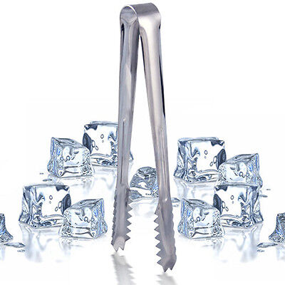Stainless Steel Ice Cube Sugar Cookie Cake Tongs Kitchenware Buffet Dinner VQ
