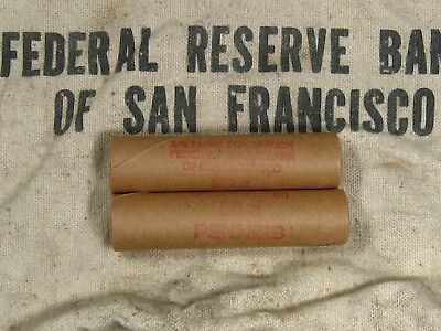 (ONE) FRB SF Salt Lake Branch Indian Head Penny Roll 50 Cents - 1859 1909 (131)