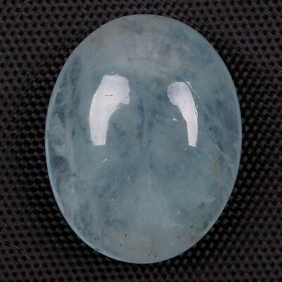 Natural AQUAMARINE 15x12 mm Oval Cabochon Gemstone 10.00 Cts For Jewelry S-5360
