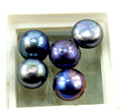 Christmas Offer GGL Certified 35.90 Ct 5 Pcs Natural Black Pearl Lot Gemstone
