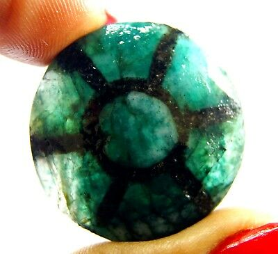 GGL Certified 57 Ct Natural Trapiche Emerald from Colombia Untreated Gemstone