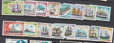1972 - 1973 CHRISTMAS ISLAND - SHIPS - FULL SET x 16 stamps MINT UNHINGED MUH