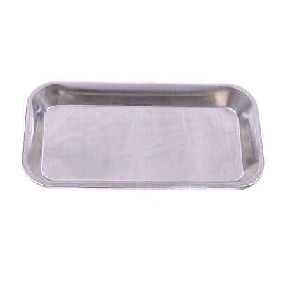 StainlessSteel medical surgical tray dentals dish lab instrument tool 22X12X2cmS