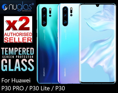 2 X Nuglas 9H Tempered Glass Screen Protector HUAWEI P30 P20 Pro P20 lite