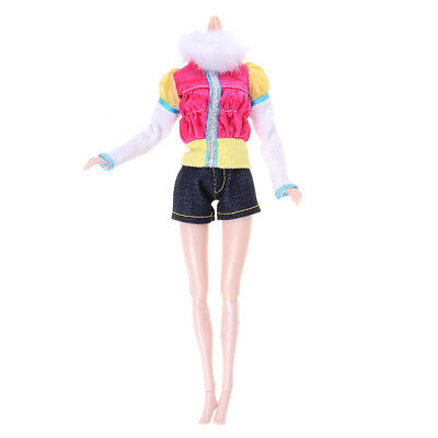 2Pcs/Set handmade doll coat shorts doll casual wear clothes for  1/6 dollS