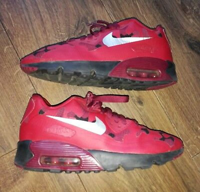 Boys black & red nike air max 90 trainers   schuh