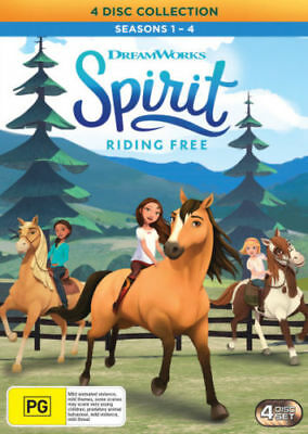 SPIRIT - RIDING FREE : SEASON 1 2 3 &  4   -  DVD - UK Compatible - Sealed