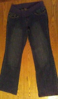 Old Navy Denim Low Rise Boot Cut Maternity Stetch Jeans Size M Regular