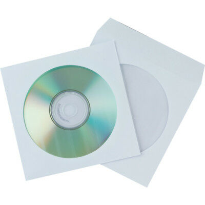 2000 Sleeve CD DVD-R CD-R Paper Window Flap Envelope